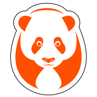 Big Panda Sticker (Orange)