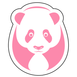 Big Panda Sticker (Pink)