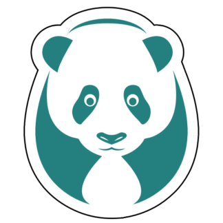 Big Panda Sticker (Turquoise)