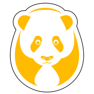 Big Panda Sticker (Yellow)