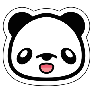 Cute Happy Panda Sticker