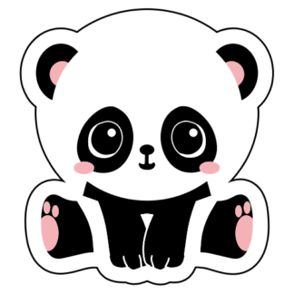 Cute Panda Baby Girl Sticker
