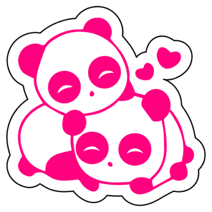 Cute Panda Couple In Love Sticker