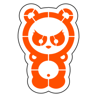 Dangerous Panda Sticker (Orange)