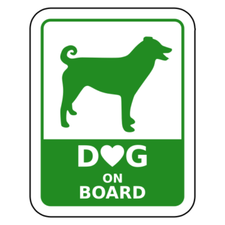 Dog On Board Sticker (Green)