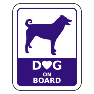 Dog On Board Sticker (Purple)