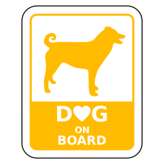 Dog On Board Sticker (Yellow)