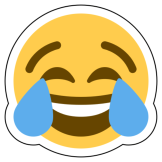 Face With Tears Of Joy Emoji Sticker