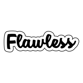 Flawless Sticker (Black)