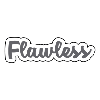 Flawless Sticker (Grey)