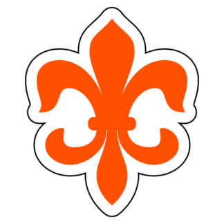 Fleur-de-lis Sticker (Orange)
