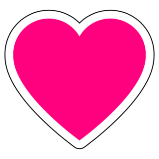 Heart Sticker (Hot Pink)