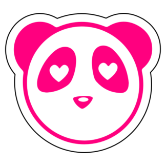 Heart Eyes Panda Sticker