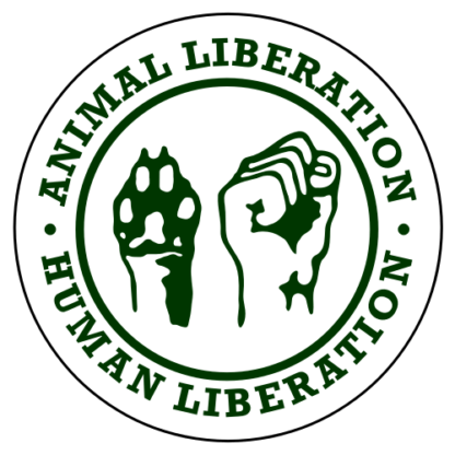 Human Liberation Animal Liberation Sticker (Dark Green)