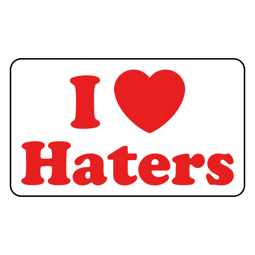 I-Love-Haters-Sticker