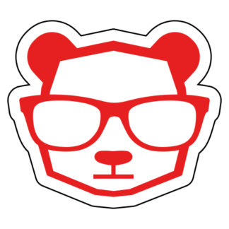 Intellectual Panda Wearing Glasses Sticker