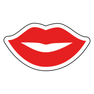 Kiss Lips Sticker (Red)