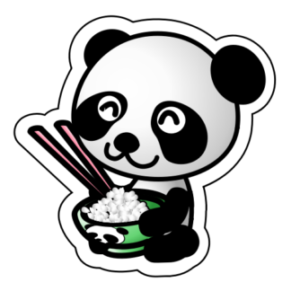 Panda Rice Bowl Sticker