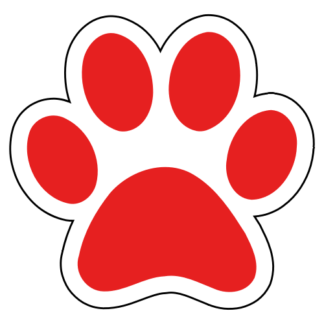 Paw Sticker (Red)
