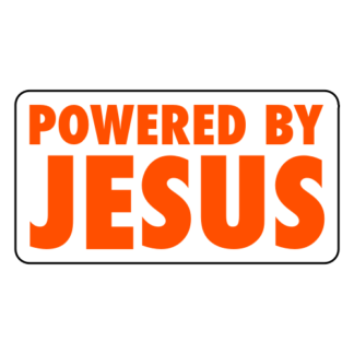Powered By Jesus Sticker (Orange)