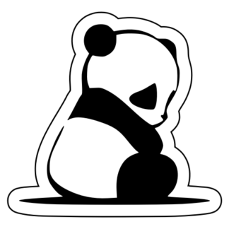 Sad Panda Sticker (Black)