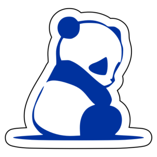 Sad Panda Sticker (Blue)