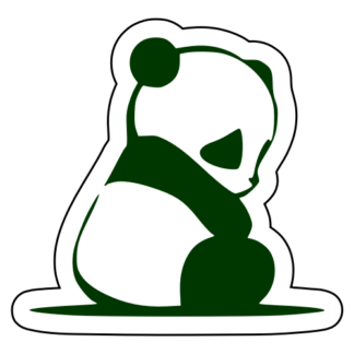 Sad Panda Sticker (Dark Green)