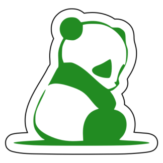 Sad Panda Sticker (Green)