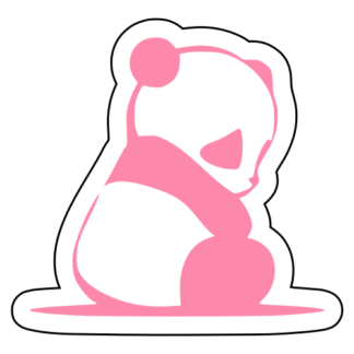 Sad Panda Sticker (Pink)