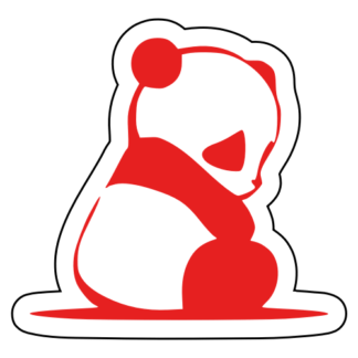 Sad Panda Sticker (Red)