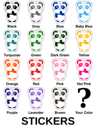 Shy Panda Stickers
