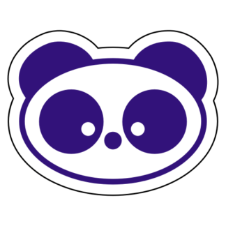 Small Eyed Panda Sticker