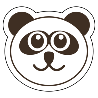 Smiling Panda Sticker (Brown)