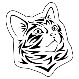 Tribal Cat Sticker