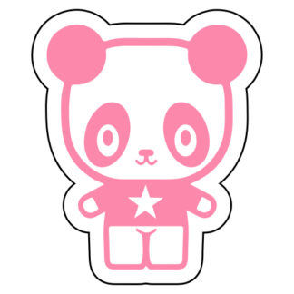 Young Star Panda Sticker